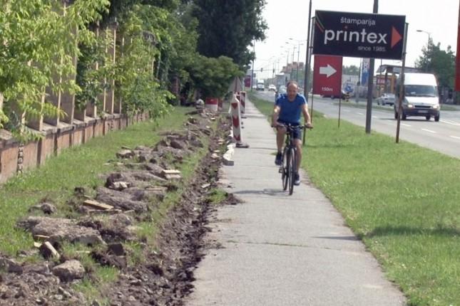 Počinje sanacije najlošijeg dela biciklističke staze na Palićkom putu