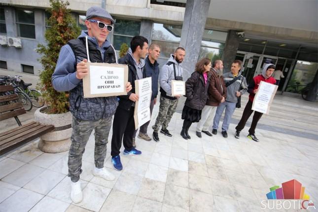 Protest podrške ekologu Đuri Vavrošu