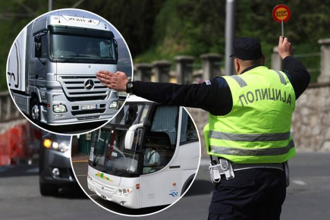 U toku pojačana kontrola vozača teretnih vozila i autobusa