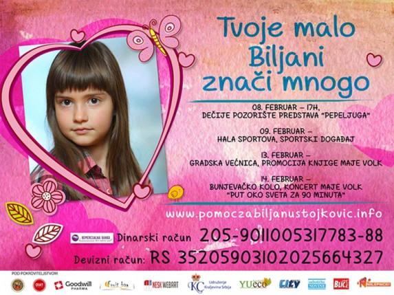 Potrebna pomoć za devetogodišnju Biljanu