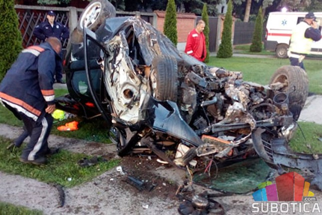 Teška saobraćajna nezgoda u Bajmoku, poginuo 33-godišnjak