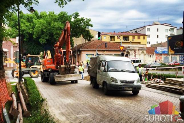Zatvaranje ulica u užem centru grada zbog izgradnje vodovodne mreže