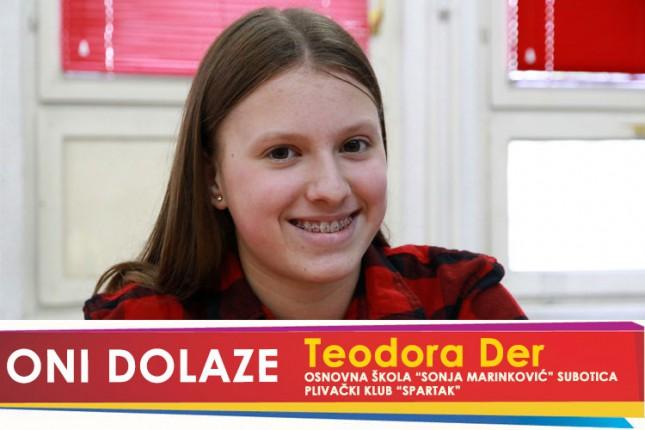 """Oni dolaze: Teodora Der, učenica OŠ """"Sonja Marinković"""" i članica Plivačkog kluba """"Spartak"""""""
