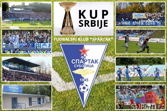 Fudbaleri Spartaka danas protiv Zemuna za 1/8 finala Kupa Srbije