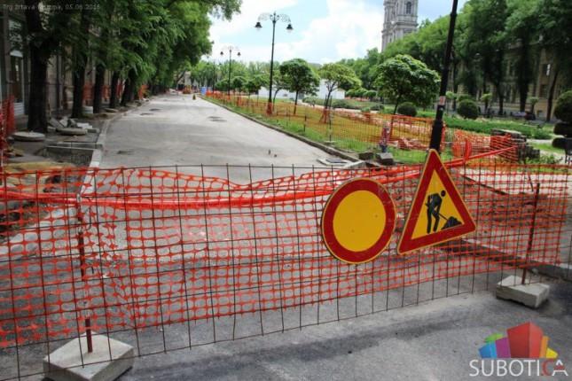 Desna strana ulice Trga žrtava fašizma biće završena u naredne dve nedelje