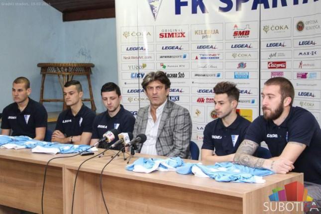 """FK """"Spartak"""" predstavio pojačanja za nastavak sezone"""