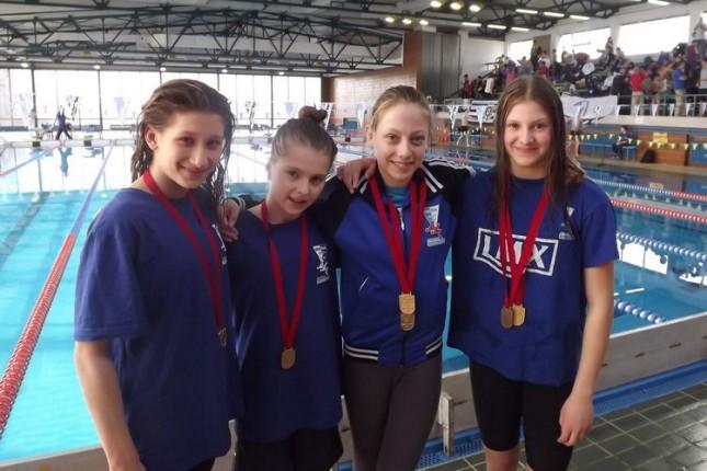 Plivači Spartaka vicešampioni Srbije (pioniri i mlađi pioniri)