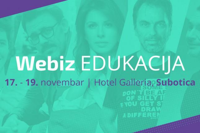 Subotica od 17. do 19. novembra domaćin desete Webiz edukacije