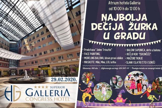 """""""Najbolja dečija žurka"""" u subotu u Atriumu hotela """"Galleria"""""""
