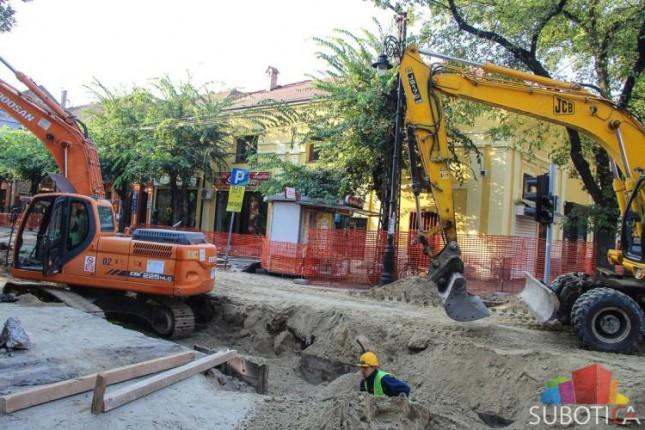 Radovi na izgradnji kanalizacione mreže u delu Trga zrtava fašizma nastavljaju se do 25. novembra