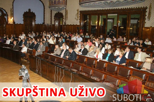 Uživo: 26. sednica Skupštine grada Subotice