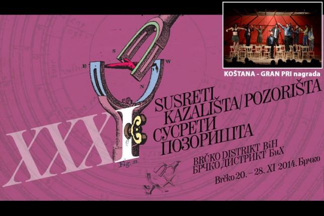 """""""Koštana"""" osvojila nagradu za najbolju predstavu na festivalu u Brčkom"""