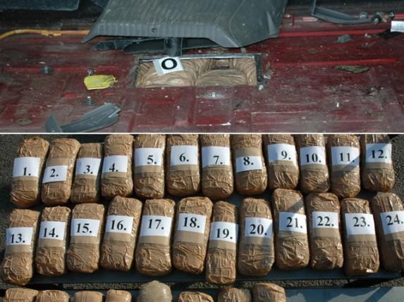 Na Horgošu zaplenjeno 18kg marihuane