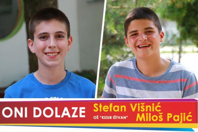 """Oni dolaze: Miloš Pajić i Stefan Višnić, učenici OŠ """"Kizur Ištvan"""""""