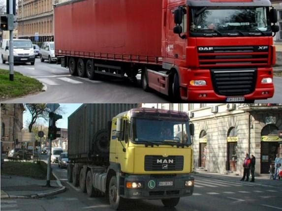 Kamioni prolaze centrom i pored zabrane