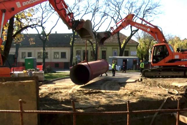 Građevinski radovi na polaganju kolektora do februara