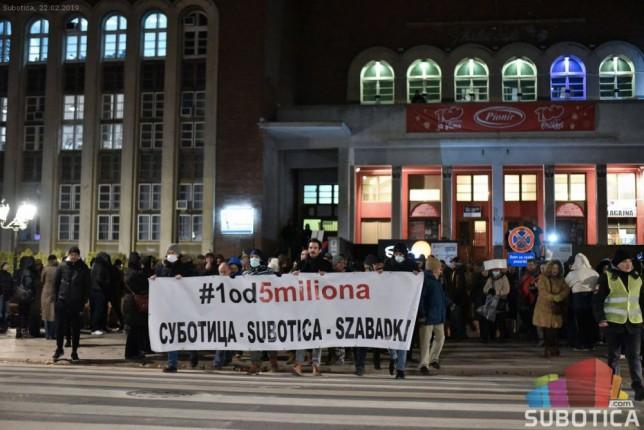 "Održan treći protest ""1 od 5 miliona"""
