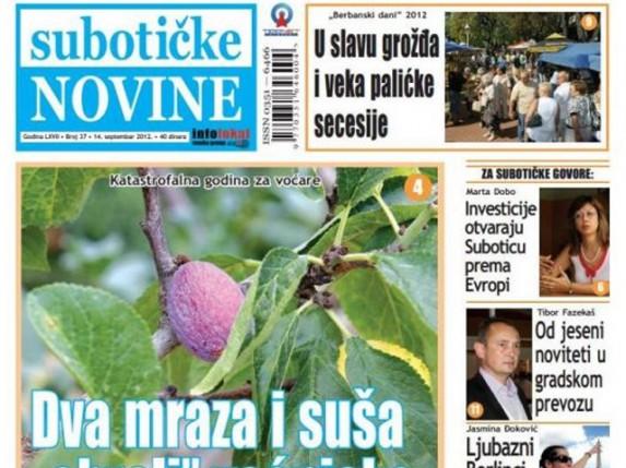 """Novi broj """"Subotičkih novina"""""""