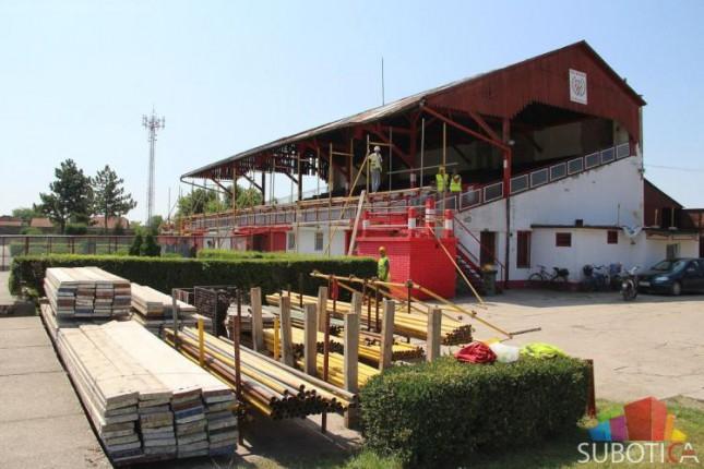 Radovi na stadionu Bačke u punom jeku