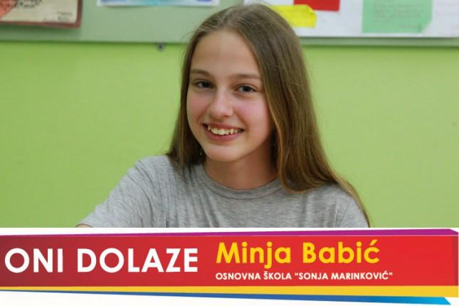 """Oni dolaze: Minja Babić, OŠ """"Sonja Marinković"""""""