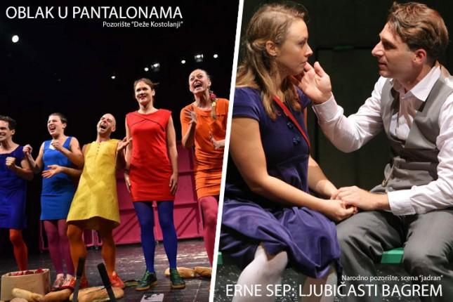 """Repertoari Narodnog pozorišta i Pozorišta """"Kostolanji Deže"""" za novembar"""