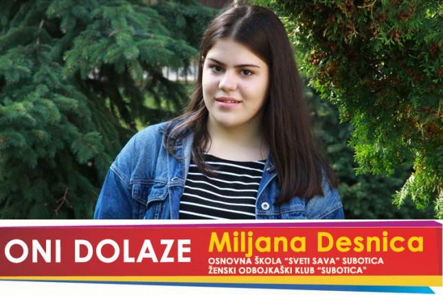 """Oni dolaze: Miljana Desnica, učenica OŠ """"Sveti Sava"""" i prvotimac ŽOK """"Subotica"""""""
