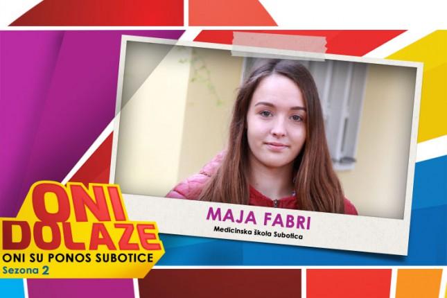 """Oni dolaze: Maja Fabri, učenica Srednje medicinske škole i članica Planinarskog sportskog kluba """"Spartak"""""""