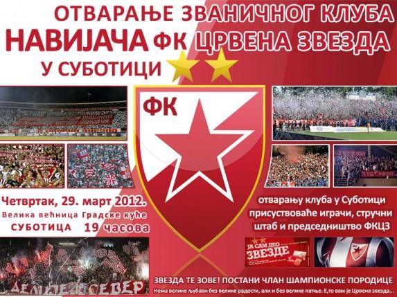Otvaranje kluba navijača Crvene zvezde
