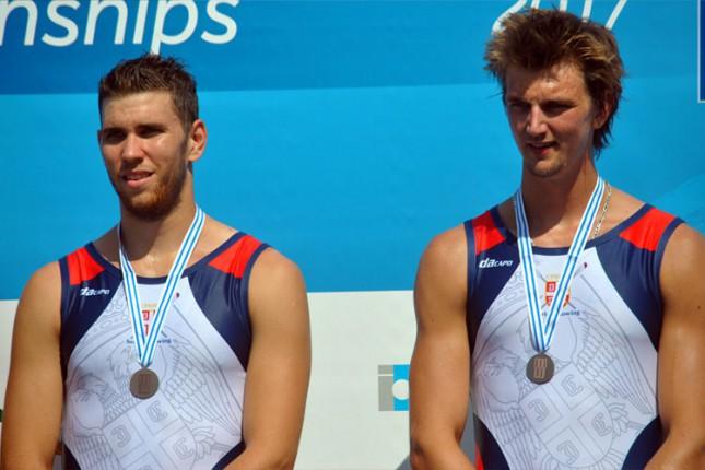 Mačković i Pivač osvojili bronzanu medalju na Svetskom prvenstvu u veslanju