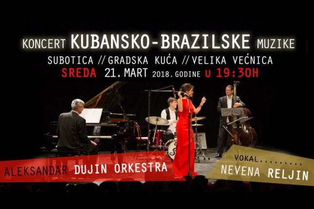 Aleksandar Dujin orkestra (veče kubansko-brazilske muzike) 21. marta u Velikoj većnici