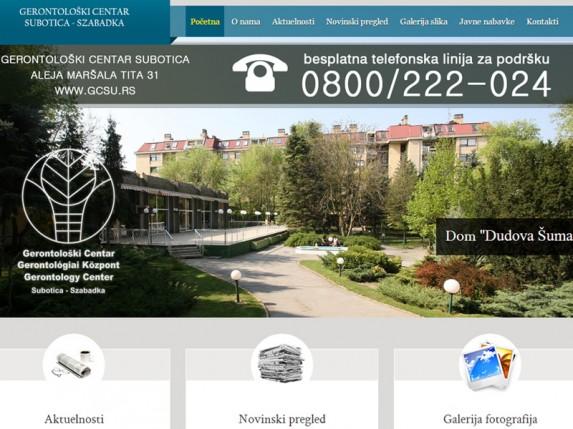 Gerontološki centar ima novi sajt