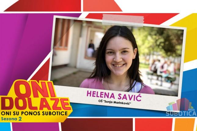 """Oni dolaze: Helena Savić, maturantkinja OŠ """"Sonja Marinković"""""""