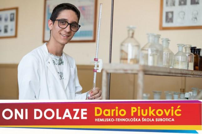 Oni dolaze: Dario Piuković, učenik Hemijsko-tehnološke škole