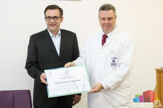Subotičkoj Opštoj bolnici dodeljena akreditacija