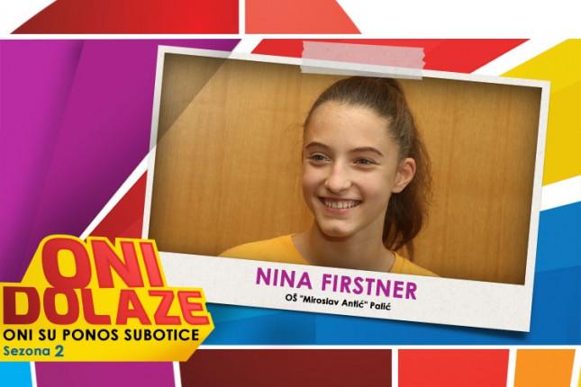 "Oni dolaze: Nina Firstner, učenica OŠ ""Miroslav Antić"" i baletske škole ""Raičević"""