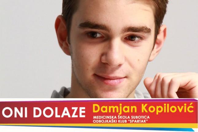 "Oni dolaze: Damjan Kopilović, učenik Medicinske škole i član MOK ""Spartak"""