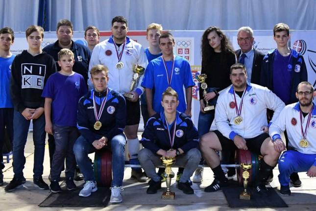 Dizanje tegova: Spartak osvojio 15. titulu šampiona Srbije u nizu