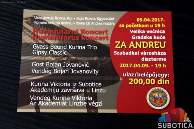 """Humanitarni koncert """"Romsko veče za Andreu"""""""