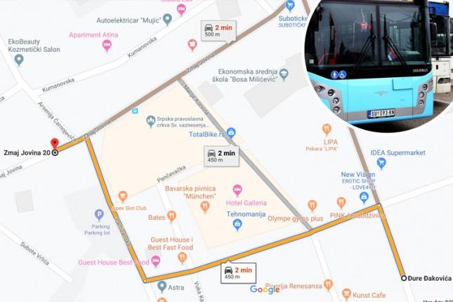 Promena saobraćanja autobuskih linija kroz Zmaj Jovinu u sredu