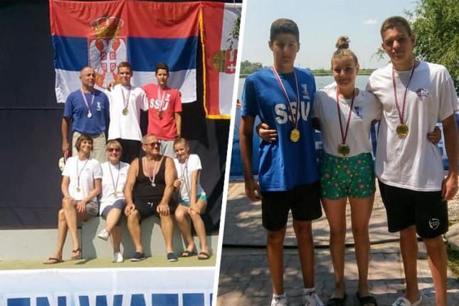 Plivanje: Spartak osvojio 21 medalju na Prvenstvu Srbije na otvorenim vodama