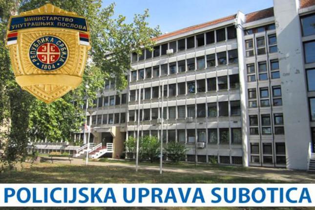 Nedeljni izveštaj Policijske uprave Subotica (26. maj - 1. jun)