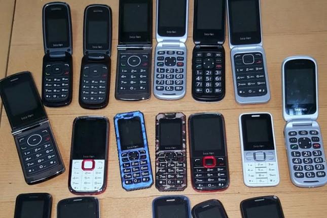 Zaplenjena veća količina mobilnih telefona