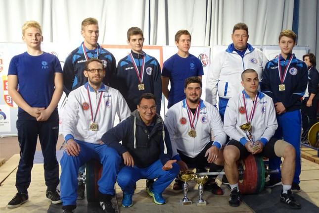Dizanje tegova: Spartak šampion Srbije, četrnaesti put u nizu