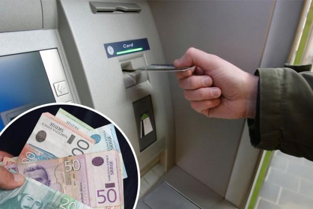 Počela isplata socijalnih davanja, mole se građani da novac podižu na bankomatima