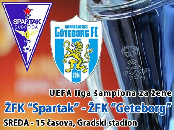 "ŽFK ""Spartak"" u novom evropskom iskušenju (Sreda, 15 časova)"