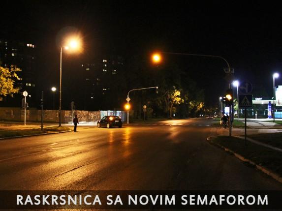 Novi semafor na Beogradskom putu u funkciji