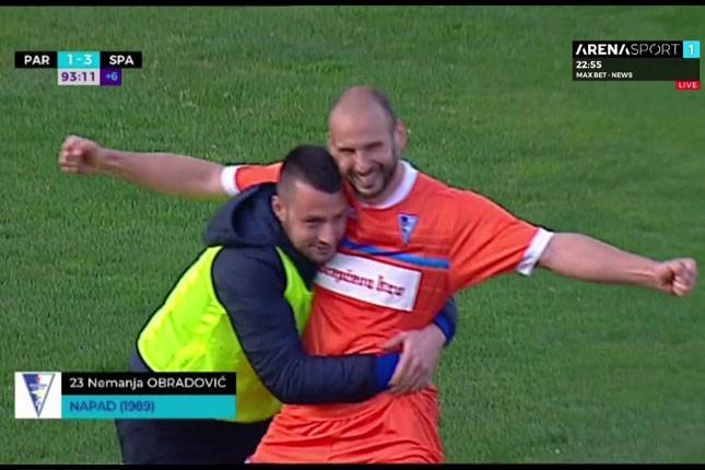Fudbal: Spartak slavio u Beogradu protiv Partizana (1:3)
