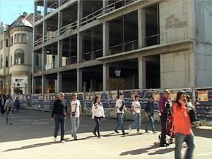 Gradilište Narodnog pozorišta prazno
