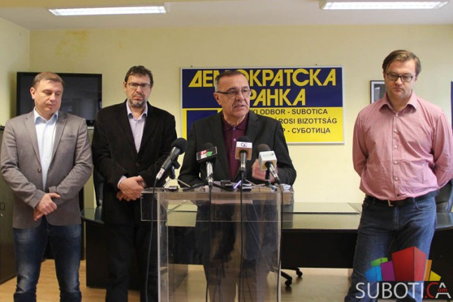 """Predstavljеna koalicija """"Za pristojnu Suboticu - Demokratska stranka (DSHV, LDP, Nova)"""""""