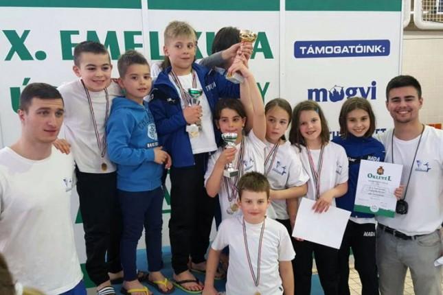 Trinaest medalja plivača Spartak-Prozivke na IV Kupu bratskih gradova Sombor-Baja